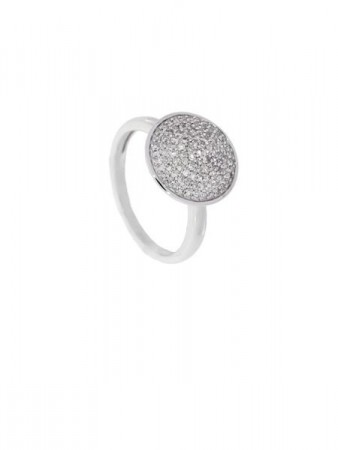 AUDREY hv.gull ring m/diamant 0,40ct W/SI
