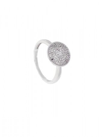 AUDREY hv.gull ring m/diamant 0,25ct W/SI