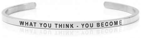Daniel Sword Armring - What you think - you become - Stål