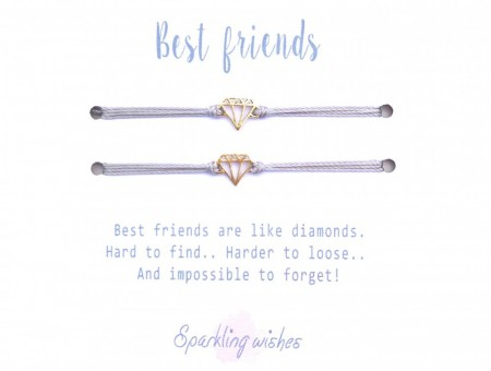 Sparkling Wishes - Best friends dobbelt armbånd