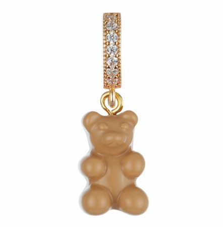 Nostalgia Bear Pave Connector Salt Caramel