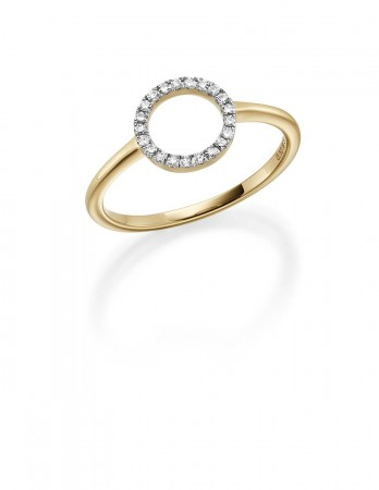 Gulldia diamantring 0.10 ct w.si