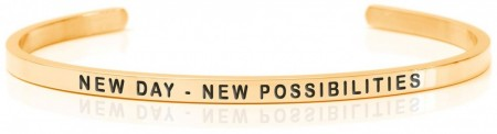 Daniel Sword Armring - New day - New possibilities - Forgylt stål