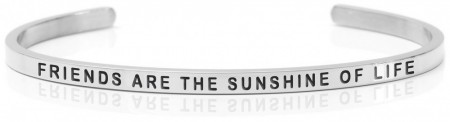 Daniel Sword Armring - Friends are the sunshine of life - Stål