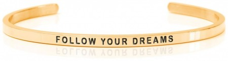 Daniel Sword Armring - Follow your dreams - Forgylt stål