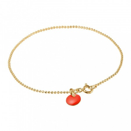 Bracelet ball chain Neon Coral