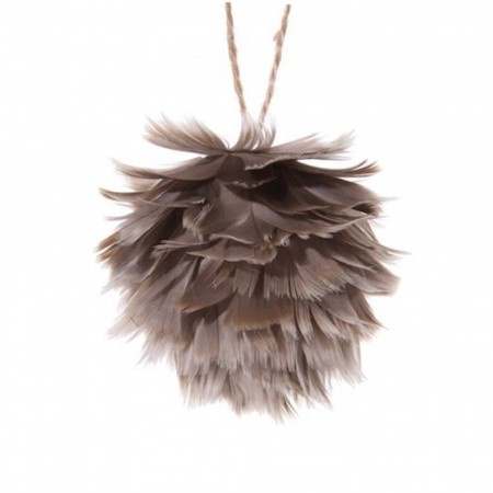 Feather airy ball grey 8 cm