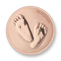 Baby feet-te quiero rosegold-plated M