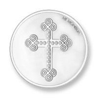 Cross and Rosary silver-plated S