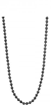 Necklace Silver Black-plated 3mm 80cm