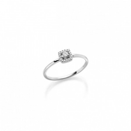 GD Forever. Hv.gull frierring med diamant 0,10 ct W/SI