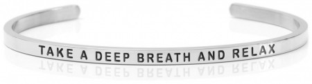 Daniel Sword Armring - Take a deep breath and relax - Stål