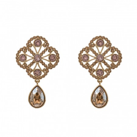 Miss Lola Earring - Golden Shadow
