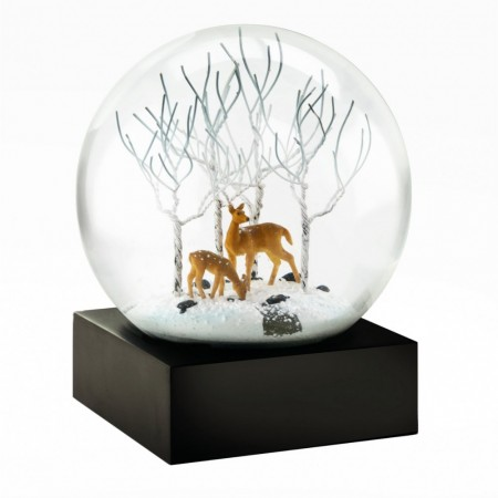 Snow Globe Deer in Woods